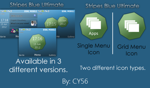 Stripes Blue Ultimate Series by cyogesh56