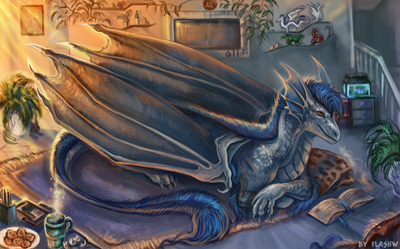 Dragon in your room by FlashW
