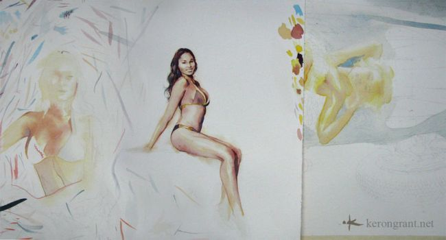 Paint sketches by Kerong
