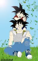 Goku and Goten by Kosukeham