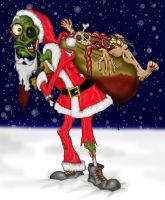 zombie santa by richardsymonsart
