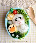 LINE Moon and Sally Bento Lunch box by loveewa