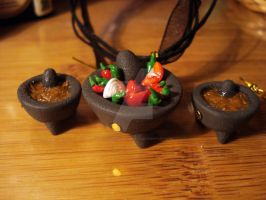 Molcajete n salsa charms by sugaroverdose-crafts