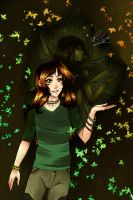 August leaves within a shadow by Jennycah