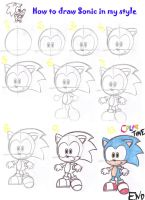 Sonic the hedgehog tutorial by LeniProduction