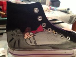 Mai and Totoro Shoe by ms-guppy
