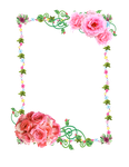 Frame PNG with roses by Melissa-tm