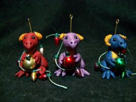 dragon christmas ornaments by AmandaKathryn