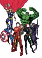 COMMISSION AVENGERS COLOR by IMPOSI