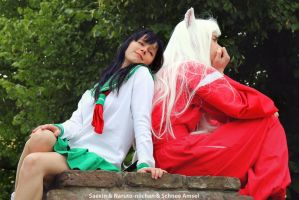 Inuyasha and Kagome Cosplay - Day 2 by SchneeAmsel