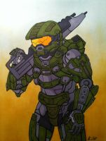 Master Chief Petty Officer John-117 by TerribleToadQueen