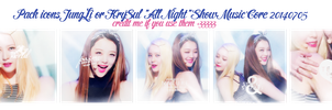 Pack icons JungLi or KrySul [All Night] 140705 by HoshimiMidori