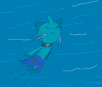 In the water at night by CharmeleonGirl46