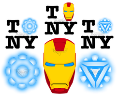 Iron Man vector designs by Kallian91