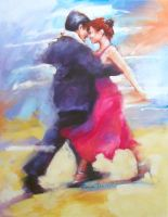 TANGO 3 in the painting by renatadomagalska