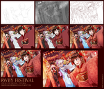 RWBY Festival : Step by step process. by dishwasher1910
