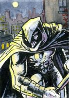 Moon Knight Sketch Card by DKuang