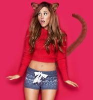 Ariana Grande 2nd Cat Morph (Request) by TFLOVER28