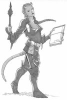 tiefling cleric by Pachycrocuta