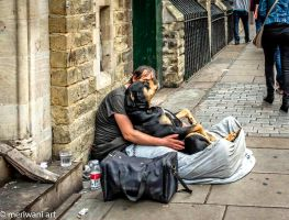 Homeless with a Dog 071412 by meriwani