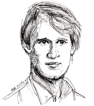 Inktober 2016 - Fifth Doctor (1) by Circular-Time