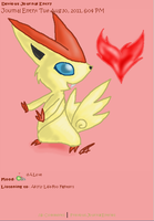 Victini Journal Skin by AbyssinChaos
