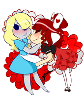 Red little Kisses by SpaceyJessi