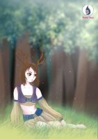 The girl in the forest by Hikariuselen