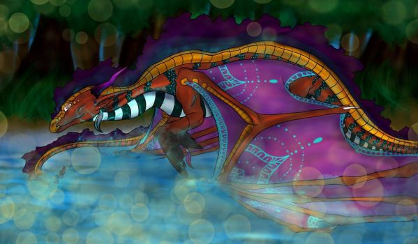 Pit viper in the delta by WarriorObsidian