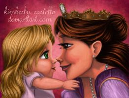 Disney's Tangled: Rapunzel and Her Mom by kimberly-castello