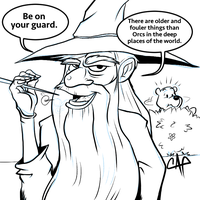 Gandalf - Be on your guard - Sketch Dailies by carlospita
