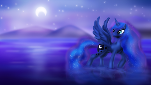 Midnight over the Lake by Zedrin