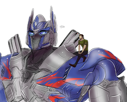 .:TF AoE : Optimus and Cade:. by JACKSPICERCHASE