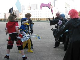 Org. XIII vs. Soras and Donald by Shadow-in-teh-Night6