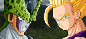 Gohan SSJ2 vs Perfect Cell by drozdoo