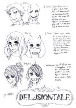 DELUSIONTALE characters pt.2 by Nayui