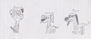 Dipstick, Wizzer, and Mooch by JamesTheDalmatian