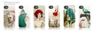 iPhone Cases by elia-illustration