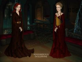 Lady Sansa and Queen Cercei - Black water by EcaJT