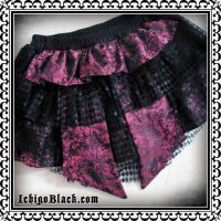 Dovetail bustle skirt by funkyfunnybone