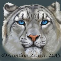 Snow Leopard WIP by NatsumeWolf