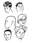 head sketches by michaelharris