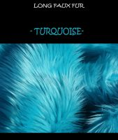 Faux fur fabric - turquoise- by LisaToms