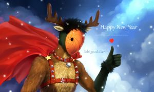 Tobi good deer)))) Happy New Year!!!!)))) by Zetsuai89