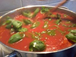 Tomato and bazil pasta sauce 2 by haileysthelimit
