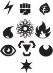 Pokemon Energy Symbols Vectorized by ShiningBill