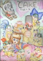 The Koopalings cake party 8D by ScreeKeeDee