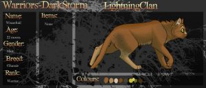 WDS LightningClan Warrior- Weaseltail by Pedropoliss