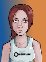 Chell- The FireAlpaca experment by Greendayrox489