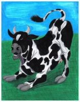 Moo Doggy Dog Cow -2007 by CrystalMarineGallery
